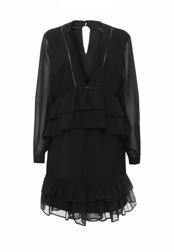 Купить Платье LOST INK, MARSHA PLUNGE RUFFLE DRESS, lo019ewoxi41, черный, Весна-лето 2017
