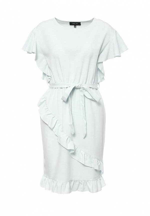 Купить Платье LOST INK, EMILYN FAUX WRAP DRESS, LO019EWRDA39, голубой, Весна-лето 2017