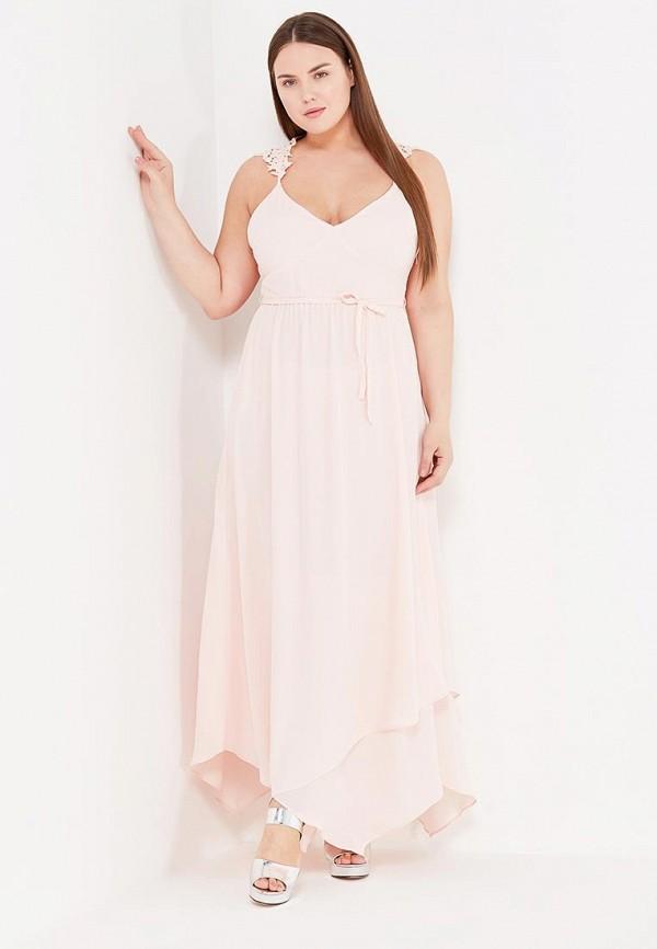 Купить Платье LOST INK, THE WARDROBE- CORI STRAPPY LACE APPLIQUE DRESS, LO019EWTII43, розовый, Весна-лето 2017