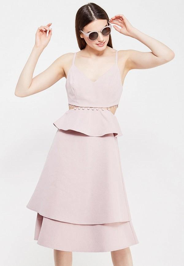 Купить Платье LOST INK, BUTTON WAIST DRESS, LO019EWTTD48, розовый, Весна-лето 2017