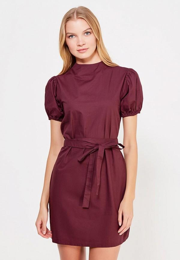 Купить Платье LOST INK, WOVEN TIE WAIST MINI, lo019ewwcn29, бордовый, Осень-зима 2017/2018