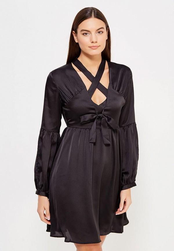 Фото - женское вечернее платье LOST INK черного цвета