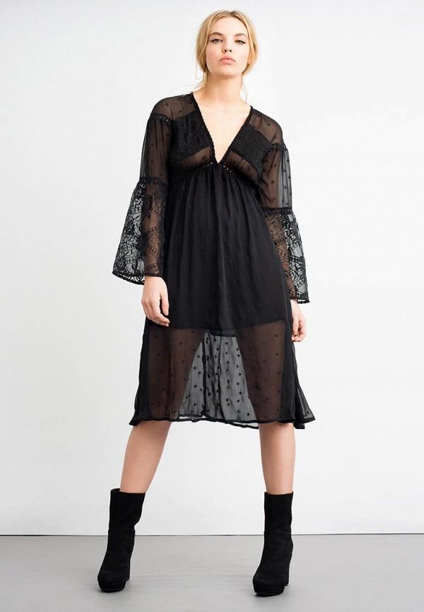 Купить Платье LOST INK, LACE UNDERBUST MIDI DRESS, LO019EWYDK29, черный, Осень-зима 2017/2018