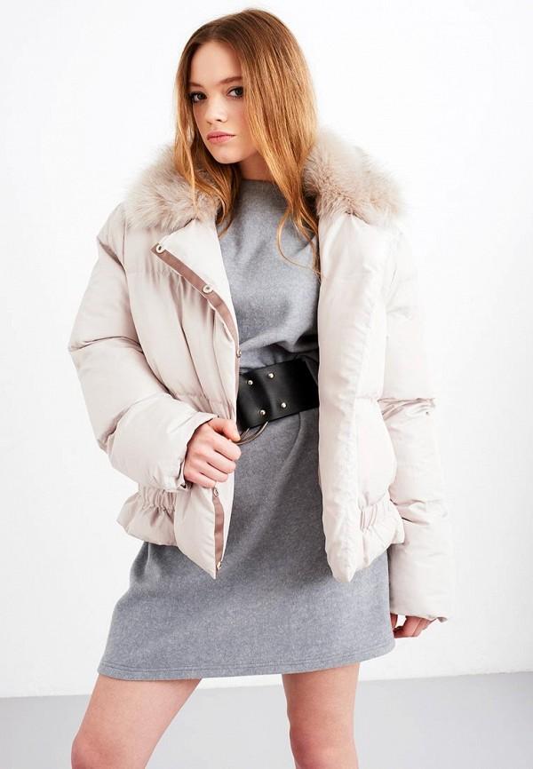 Купить Куртка утепленная LOST INK, SHORT PADDED PEPLUM JACKET, lo019ewydk31, бежевый, Осень-зима 2017/2018