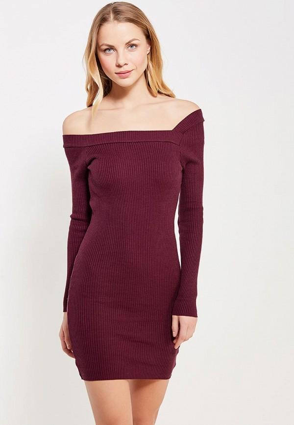 Купить Платье LOST INK, OFF SHOULDER RIB DRESS, lo019ewyjp35, разноцветный, Осень-зима 2017/2018