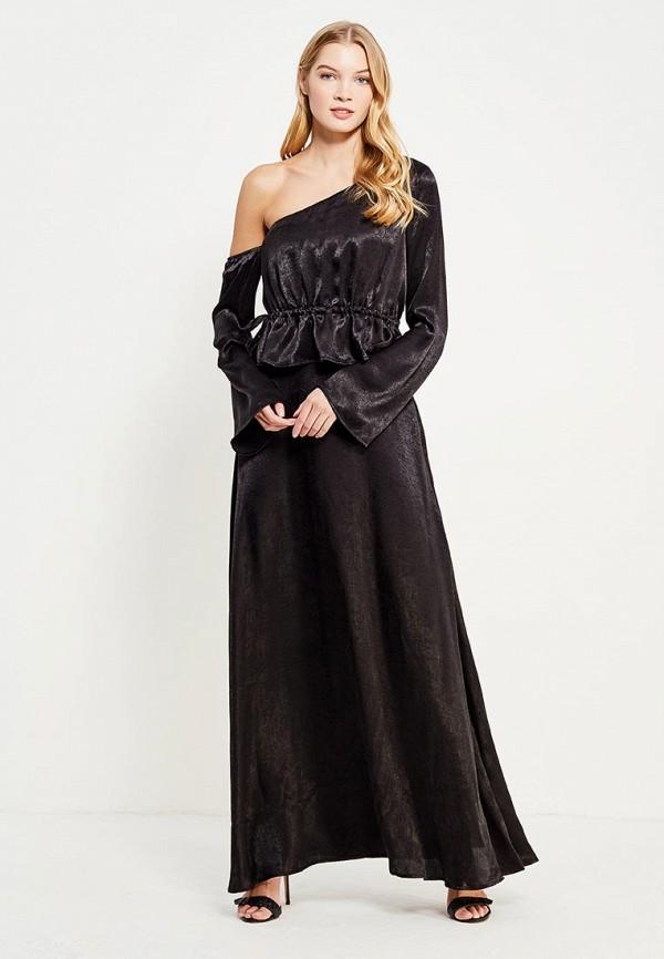 Купить Платье LOST INK, ONE SHOULDER MAXI DRESS, lo019ewylq28, черный, Осень-зима 2017/2018