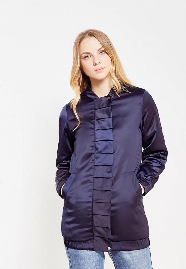 Купить Куртка утепленная LOST INK, FRILL FRONT LONGLINE BOMBER, lo019ewynw36, синий, Осень-зима 2017/2018