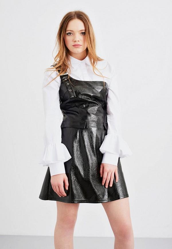 Купить Платье LOST INK, VINYL BUCKLE DRESS, lo019ewyot33, черный, Осень-зима 2017/2018