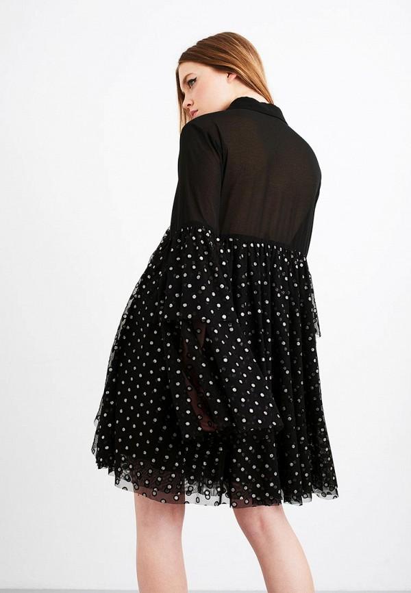 Фото 2 - женское вечернее платье LOST INK черного цвета