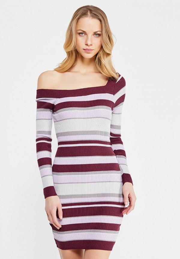 Купить Платье LOST INK, OFF SHOULDER RIB DRESS ZX, lo019ewytd45, разноцветный, Осень-зима 2017/2018