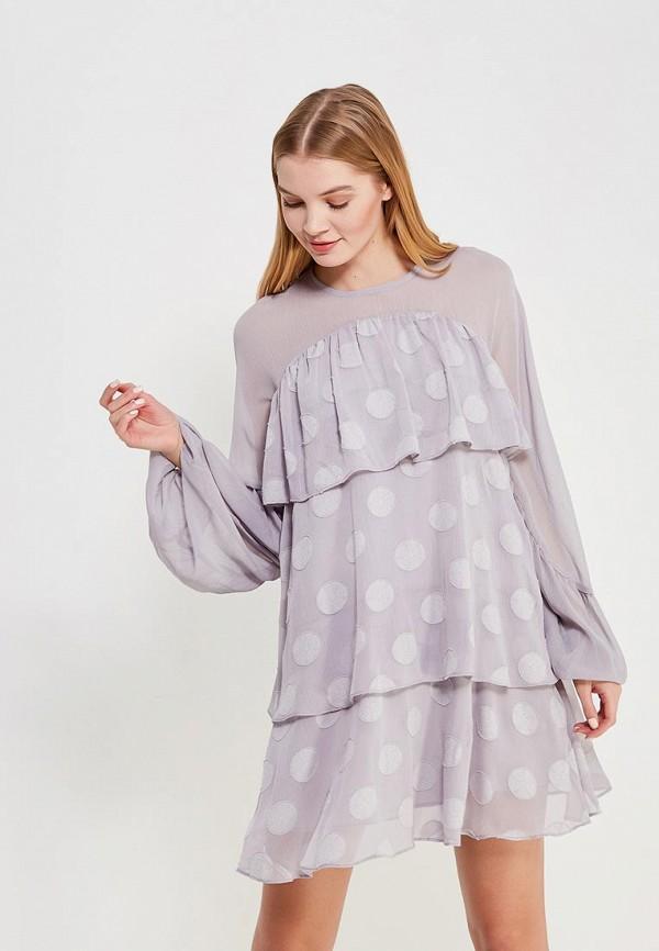 Купить Платье LOST INK, TIERED SPOT DRESS, LO019EWZSK39, серый, Весна-лето 2018