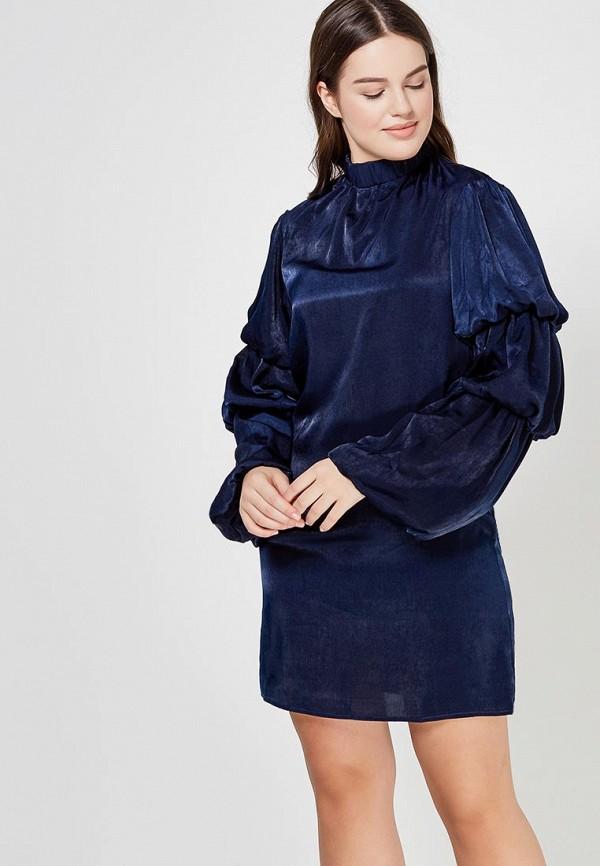 Купить Платье LOST INK, LAYERED SLEEVE SHIFT DRESS, lo019ewzut34, синий, Весна-лето 2018