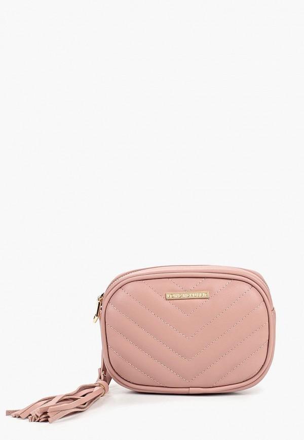 женская сумка love republic, розовая