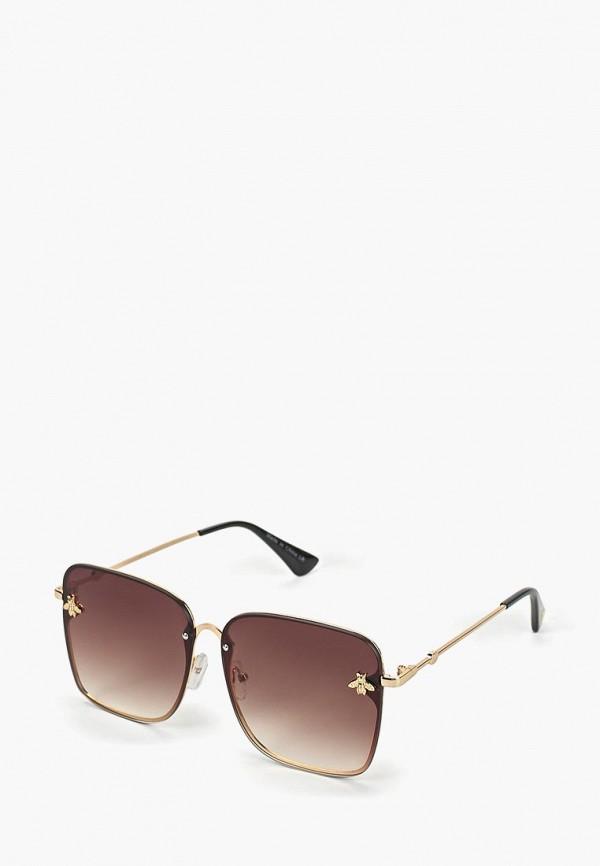женские солнцезащитные очки love republic, золотые