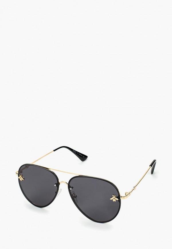 женские солнцезащитные очки love republic, черные