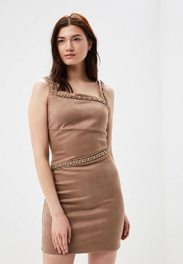 женское вечерние платье love republic, бежевое