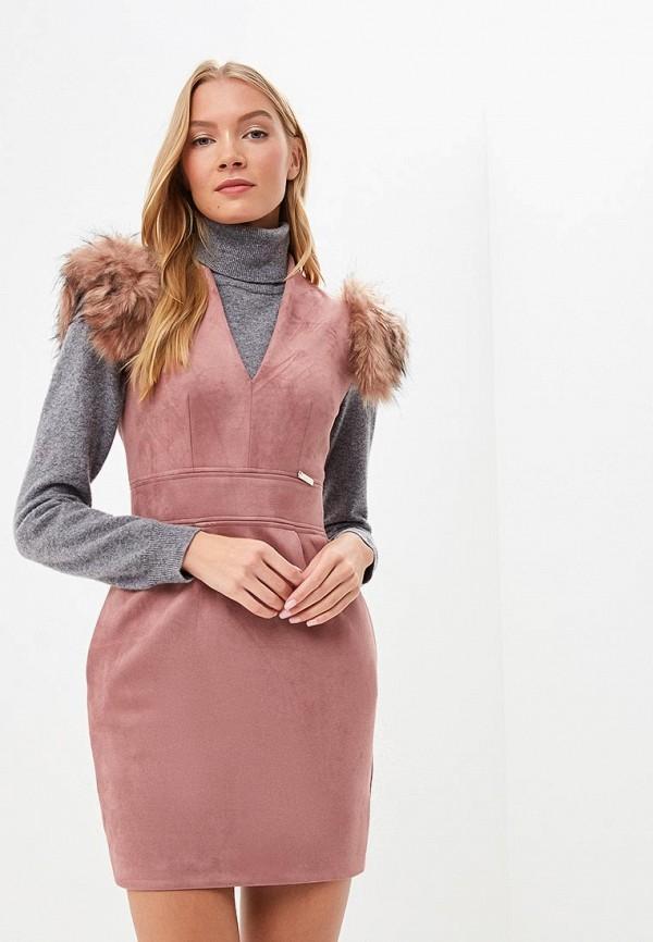 женское платье-футляр love republic, розовое