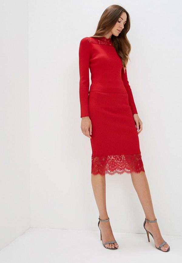 Фото 2 - женскую юбку Love Republic красного цвета