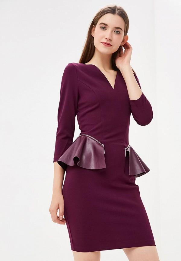 женское платье-футляр love republic, фиолетовое