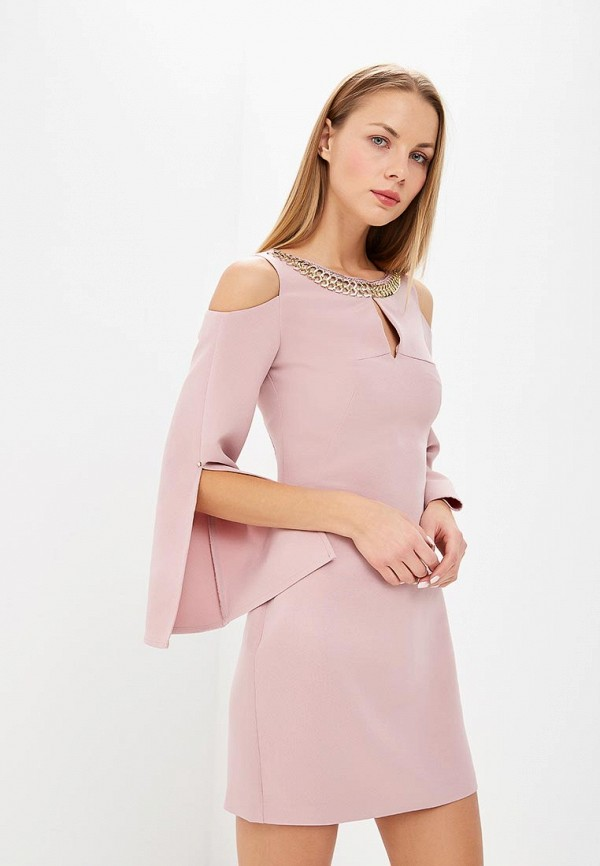 женское вечерние платье love republic, розовое