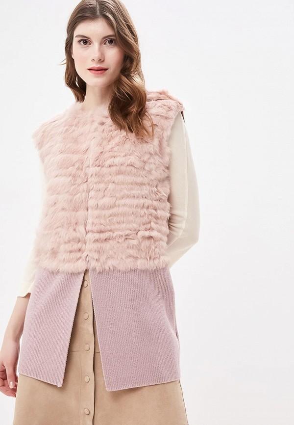 Женский розовый осенний жилет