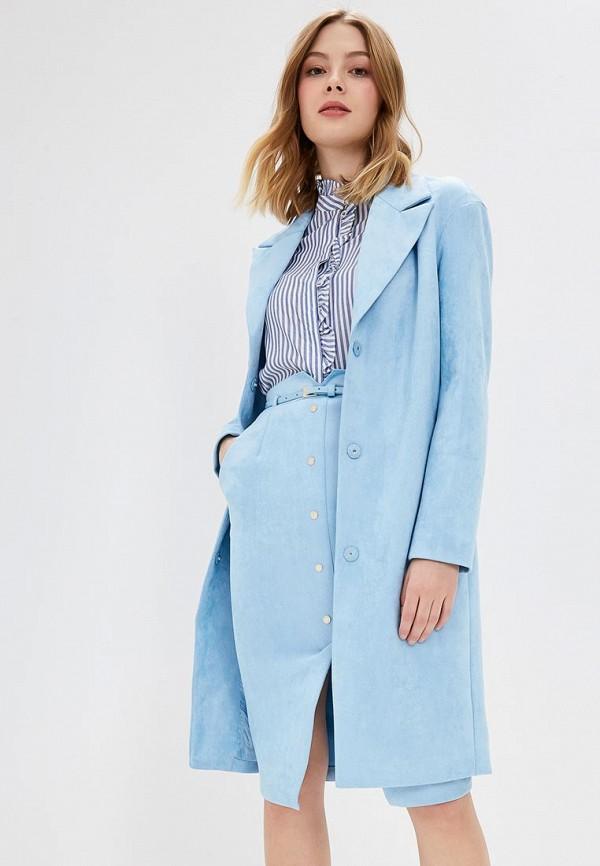женское пальто love republic, голубое