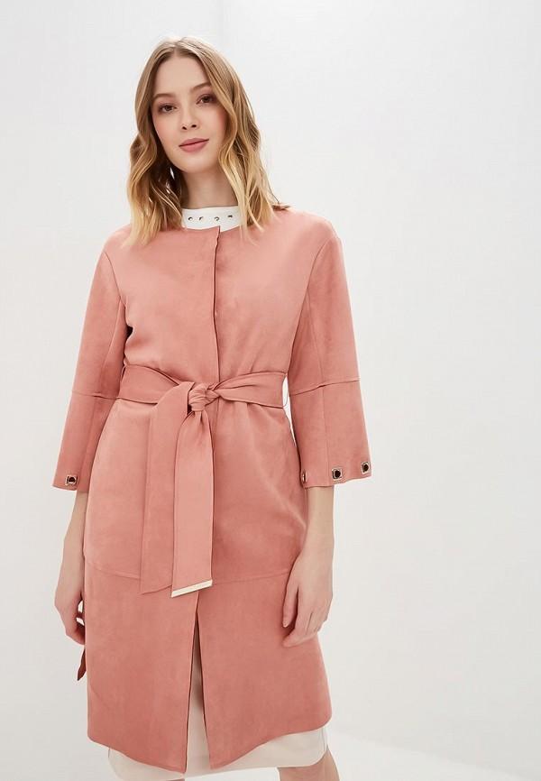 женское пальто love republic, розовое