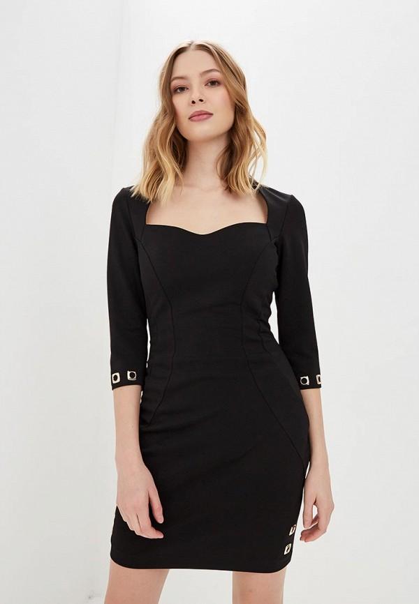 женское платье-футляр love republic, черное