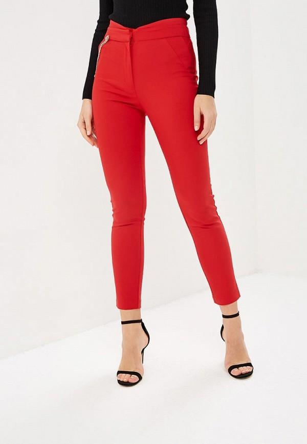 женские повседневные брюки love republic, красные