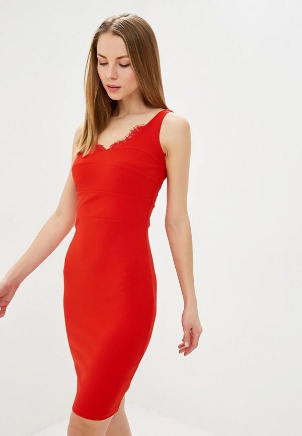 женское платье-футляр love republic, красное