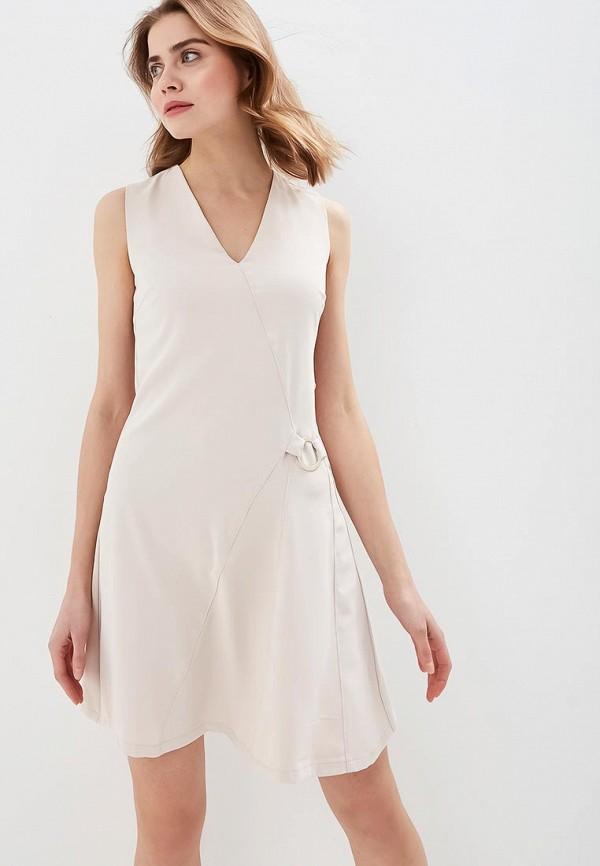 женское повседневные платье love republic, бежевое
