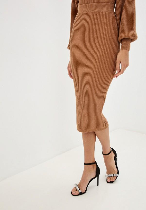 женская зауженные юбка love republic, коричневая