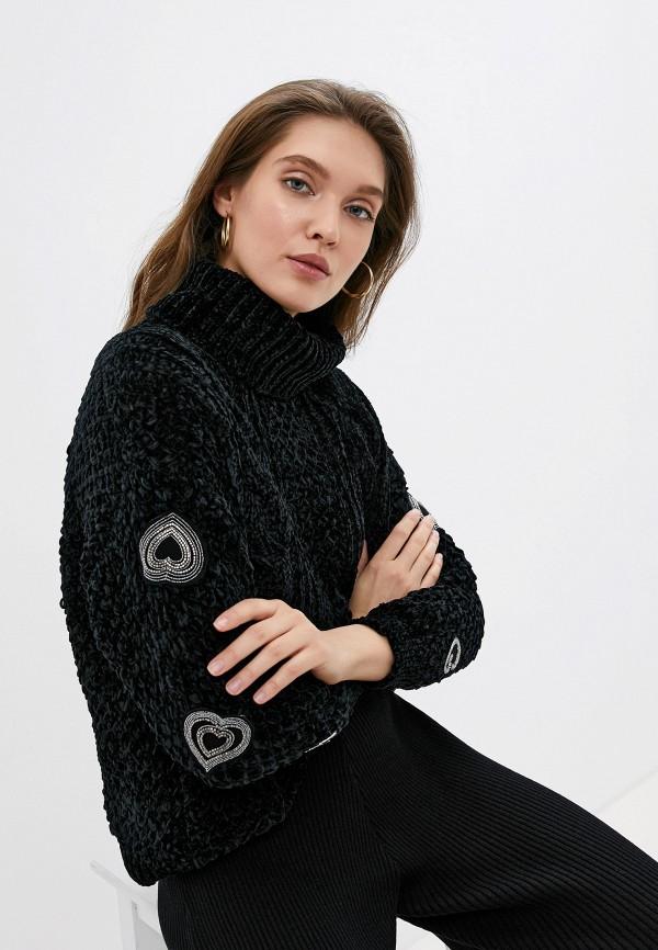женский свитер love republic, черный