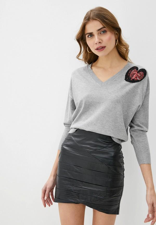 женский пуловер love republic, серый