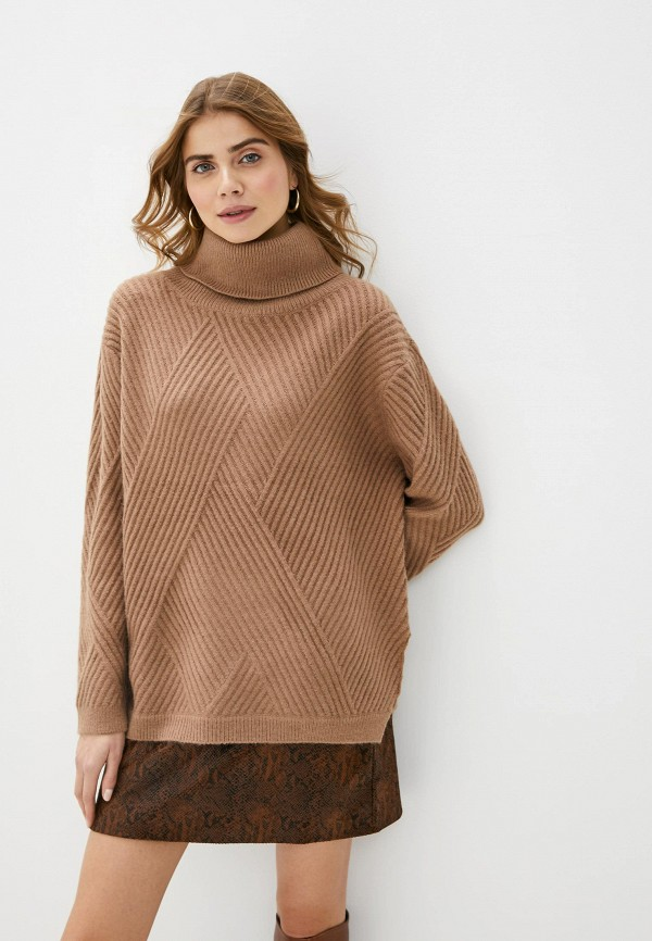 женский свитер love republic, коричневый