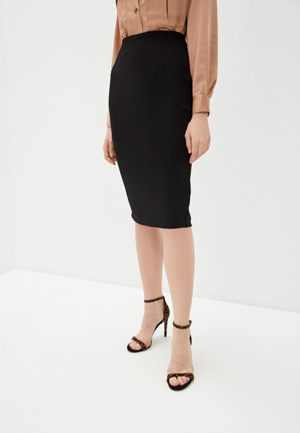 женская прямые юбка love republic, черная
