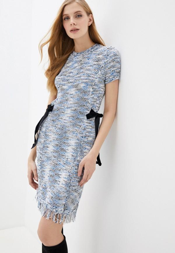 женское повседневные платье love republic, синее