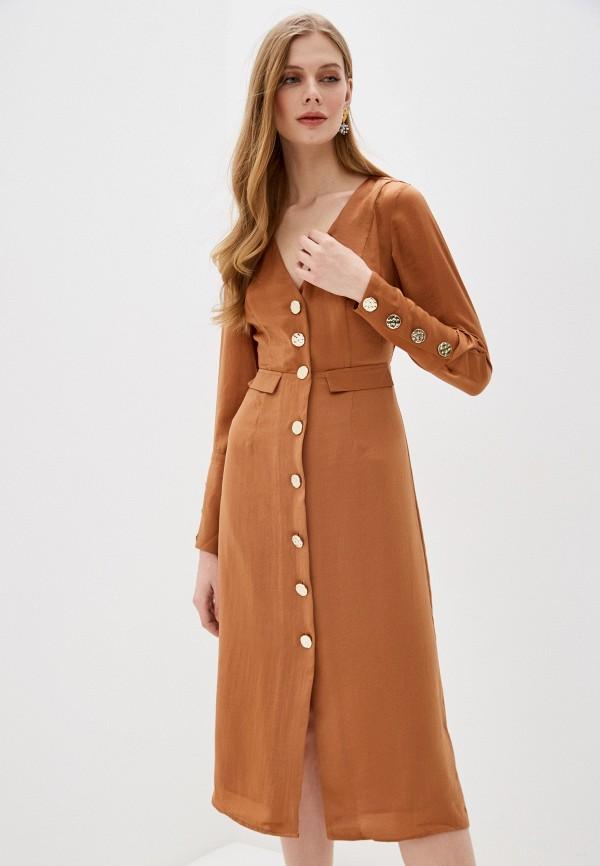 женское повседневные платье love republic, коричневое