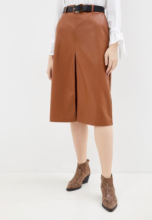 женская юбка love republic, коричневая