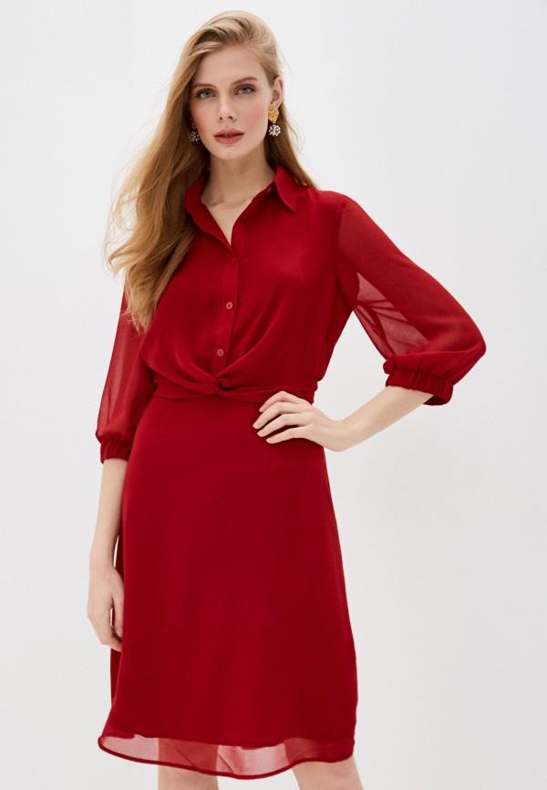 женское платье love republic, бордовое