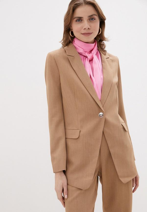женский пиджак love republic, бежевый