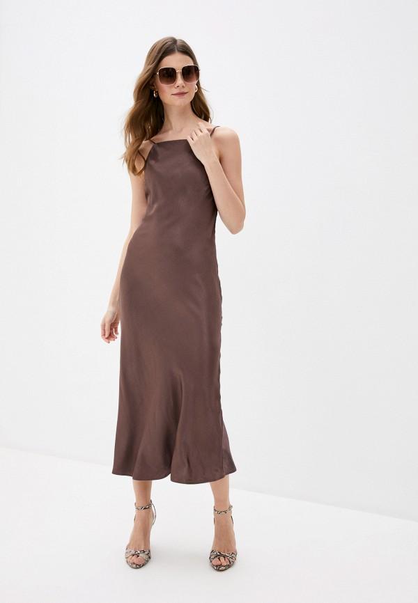 женское платье-футляр love republic, коричневое