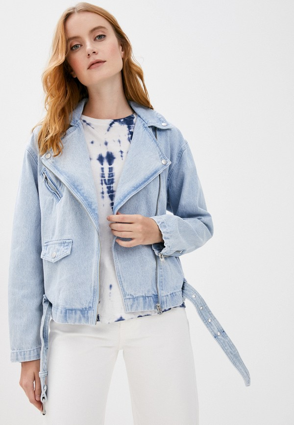 женская джинсовые куртка love republic, голубая