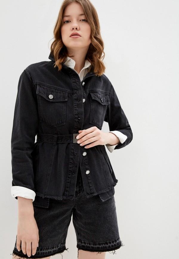 женская джинсовые куртка love republic, черная