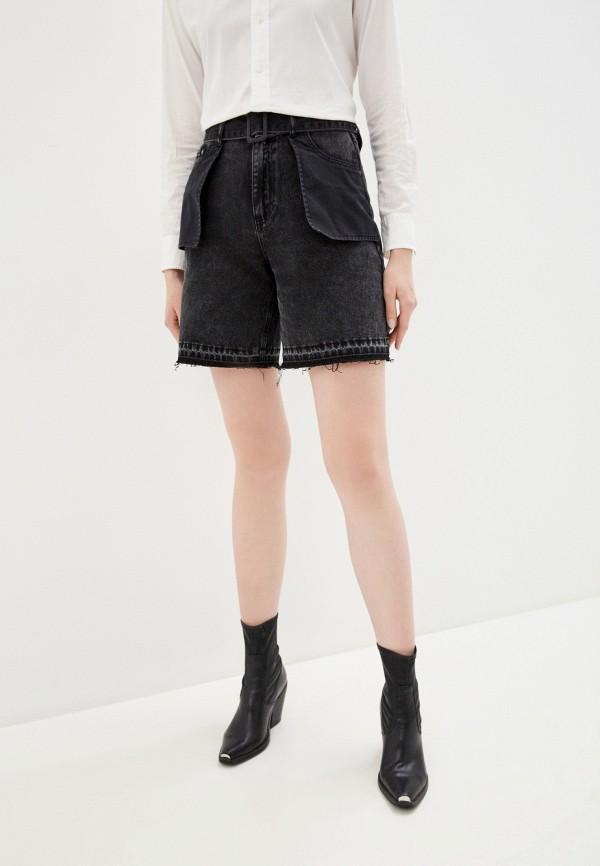 женские джинсовые шорты love republic, черные