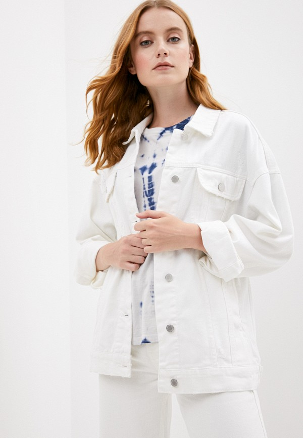женская джинсовые куртка love republic, белая