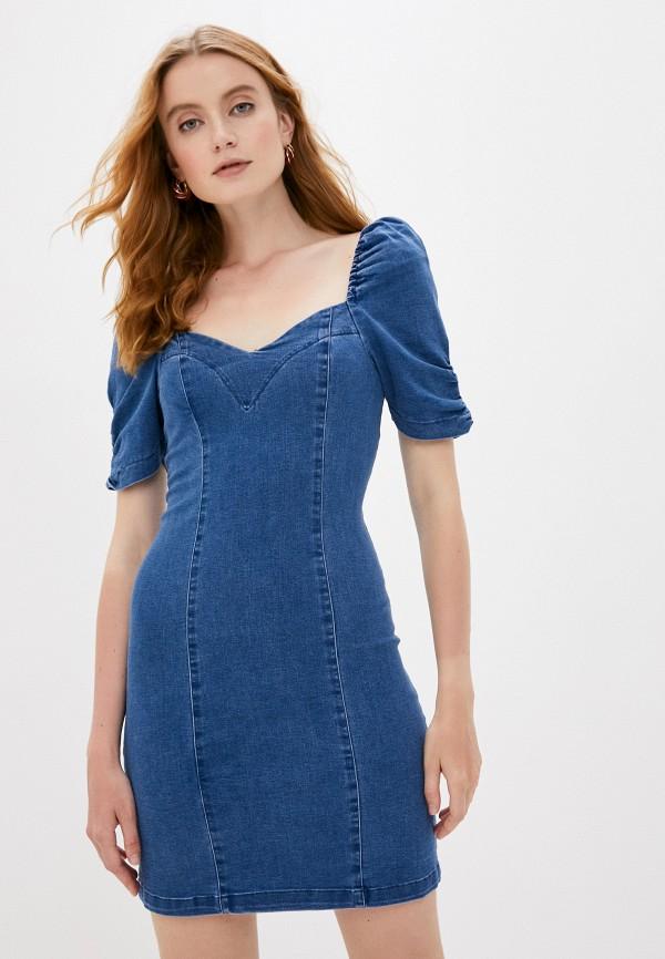 женское джинсовые платье love republic, синее