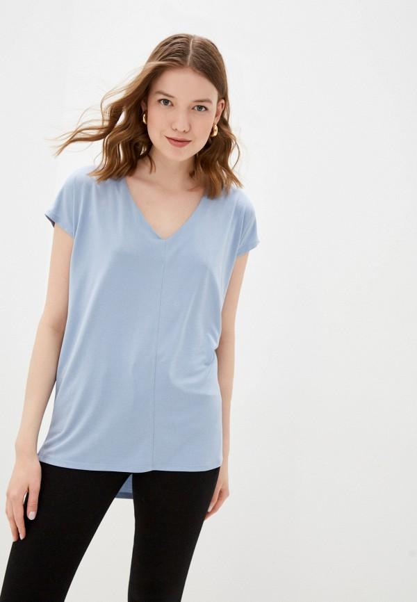 женская футболка love republic, голубая