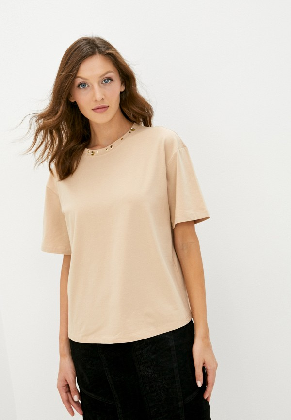 женская футболка love republic, бежевая