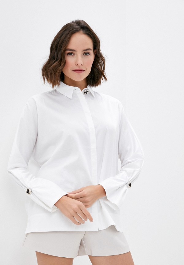 женская рубашка с длинным рукавом love republic, белая